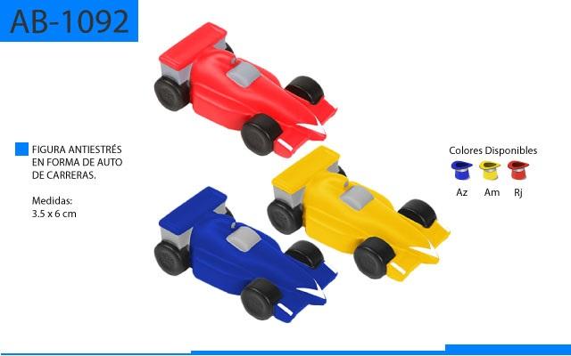 Figura Antiestrés en Forma de Auto de Carreras