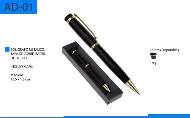 Bolígrafo Metálico de Cobre y Hierro