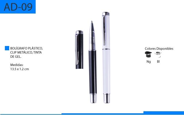 Bolígrafo Plástico Tinta de Gel Clip Metálico