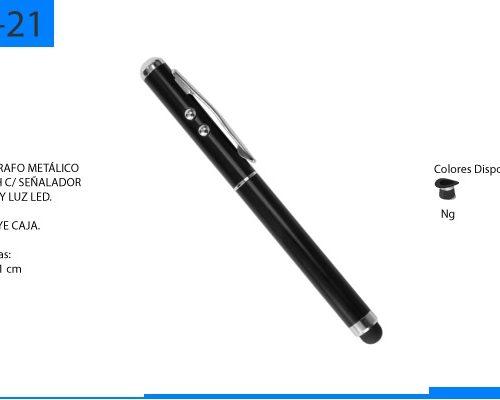 Bolígrafo Metálico Touch Laser y Luz