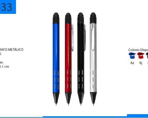 Bolígrafo Metálico Metalico Touch