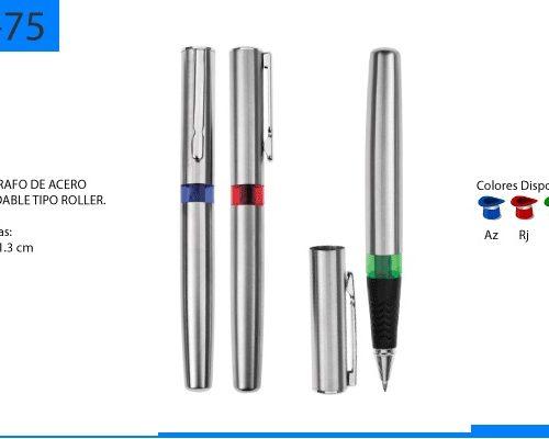 Bolígrafo Metálico Tipo Roller