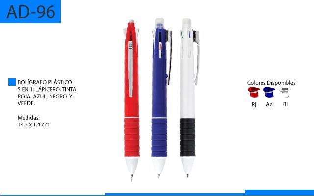 Bolígrafo Plástico 5 en 1