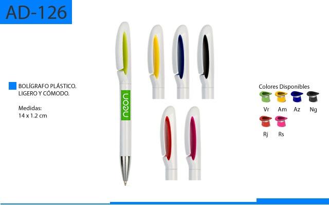 Bolígrafo Plástico Ligero y Cómodo