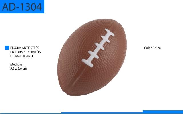 Figura Antiestrés en Forma de Balón de Americano