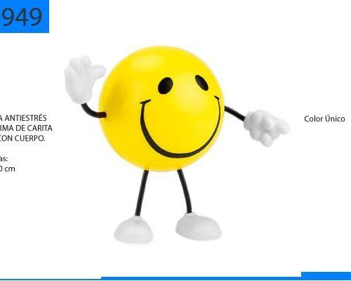 Figura Antiestrés en Forma de Carita Feliz con Cuerpo