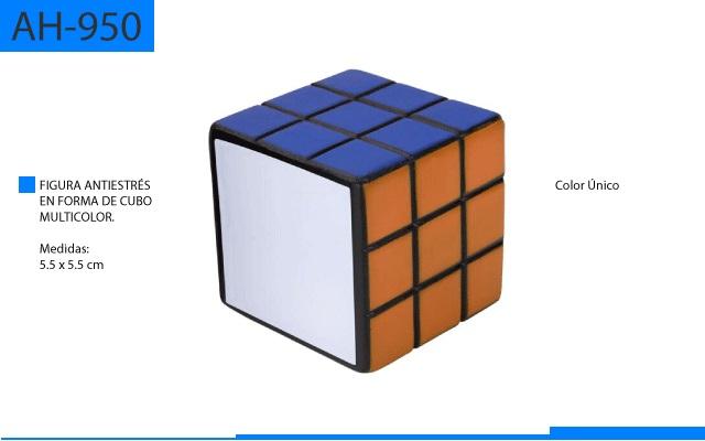 Figura Antiestrés en Forma de Cubo Multicolor