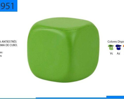 Figura Antiestrés en Forma de Cubo