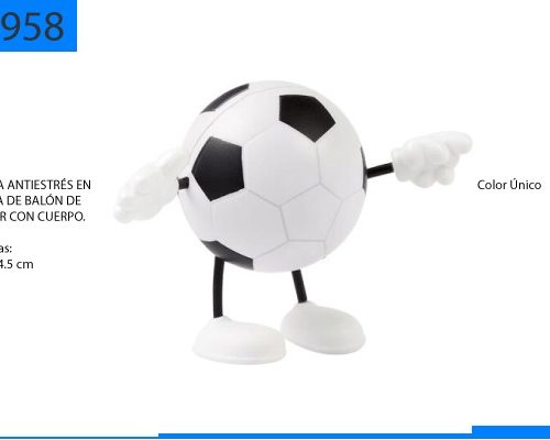 Figura Antiestrés en Forma de Balón Soccer con Cuerpo