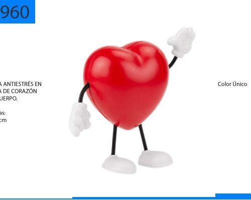 Figura Antiestrés en Forma de Corazón con Cuerpo