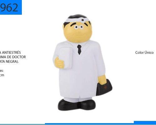 Figura Antiestrés en Forma de Doctor Corbata Negra