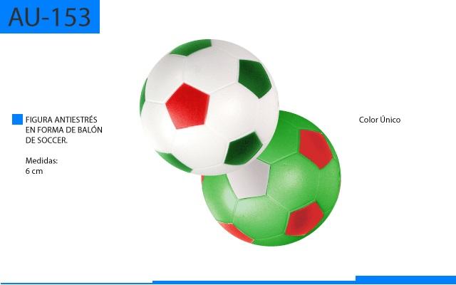 Figura Antiestrés en Forma de Balon Soccer Colores Patrios
