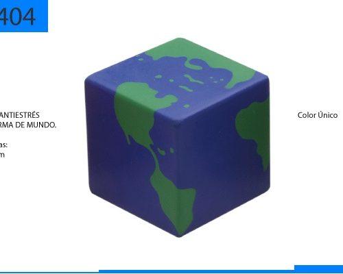 Cubo Antiestrés en Forma de Mundo
