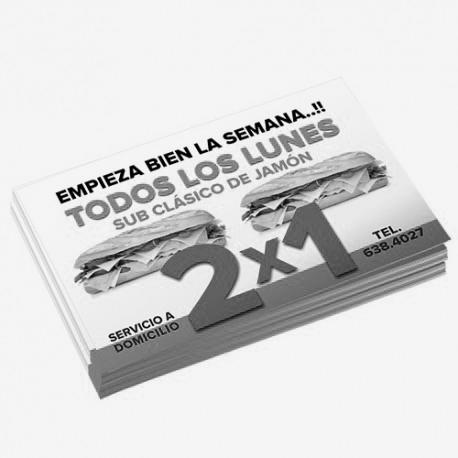 1000 Volantes Media Carta Bond en Azul Reflex y/o Negro