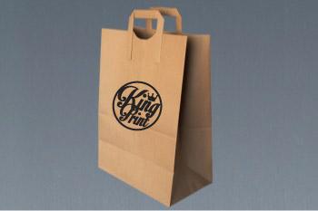 1b8210165 300 Bolsa Kraft 1/7 con asa plana con impresión a 1 tinta – KingPrint